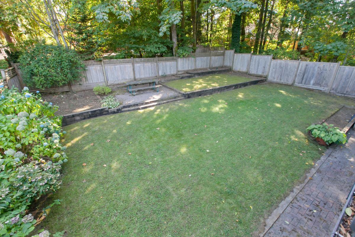 Back yard at 4005 Brockton Crescent, Crescent, Indian River, North Vancouver