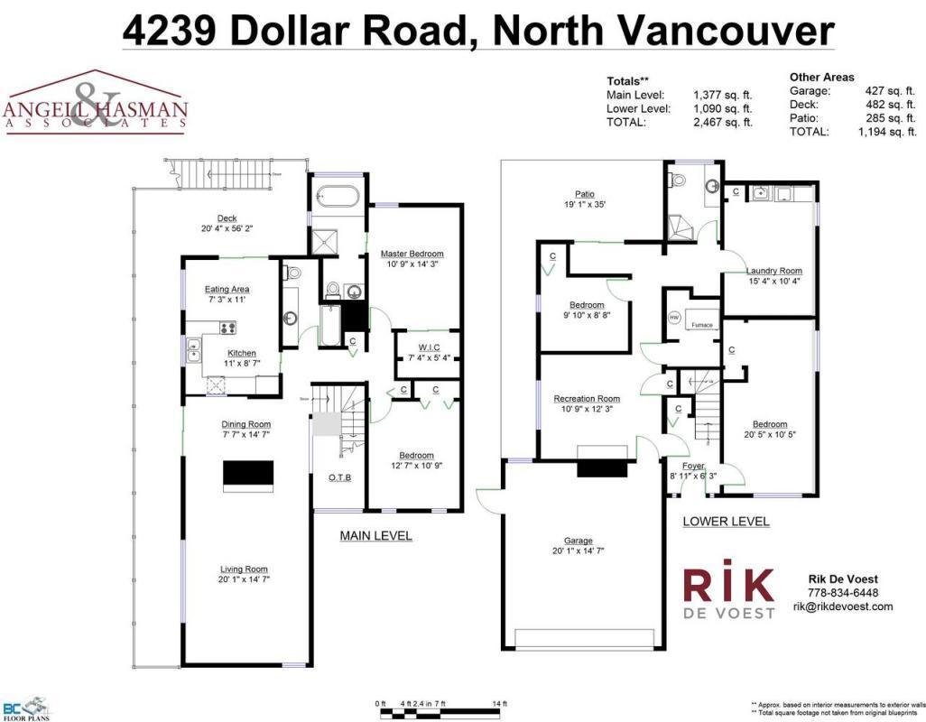 Floor-plan at 4239 Dollar Road, Dollarton, North Vancouver