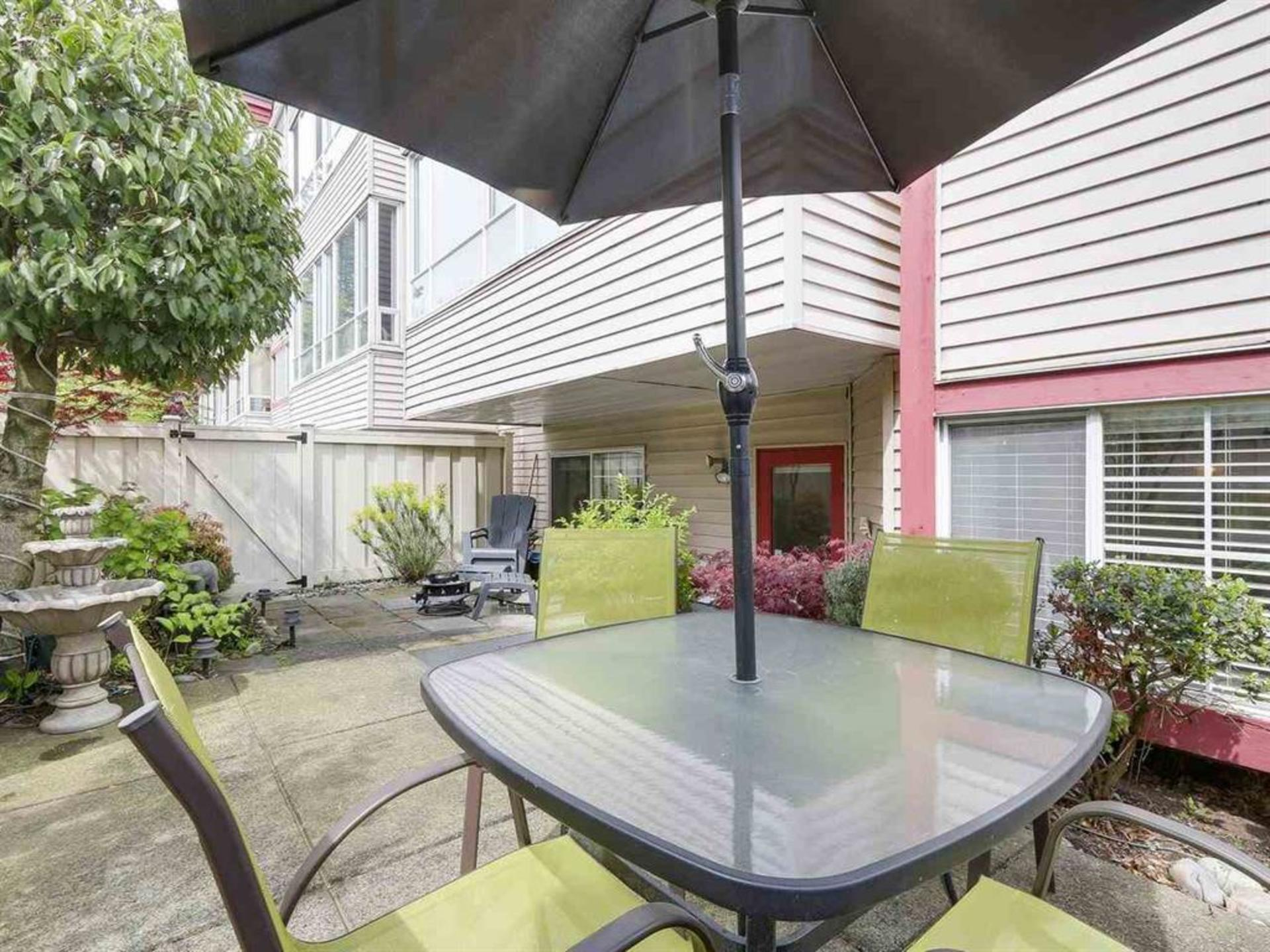 Large and private outdoor space at 108 - 1386 73, Marpole, Vancouver West