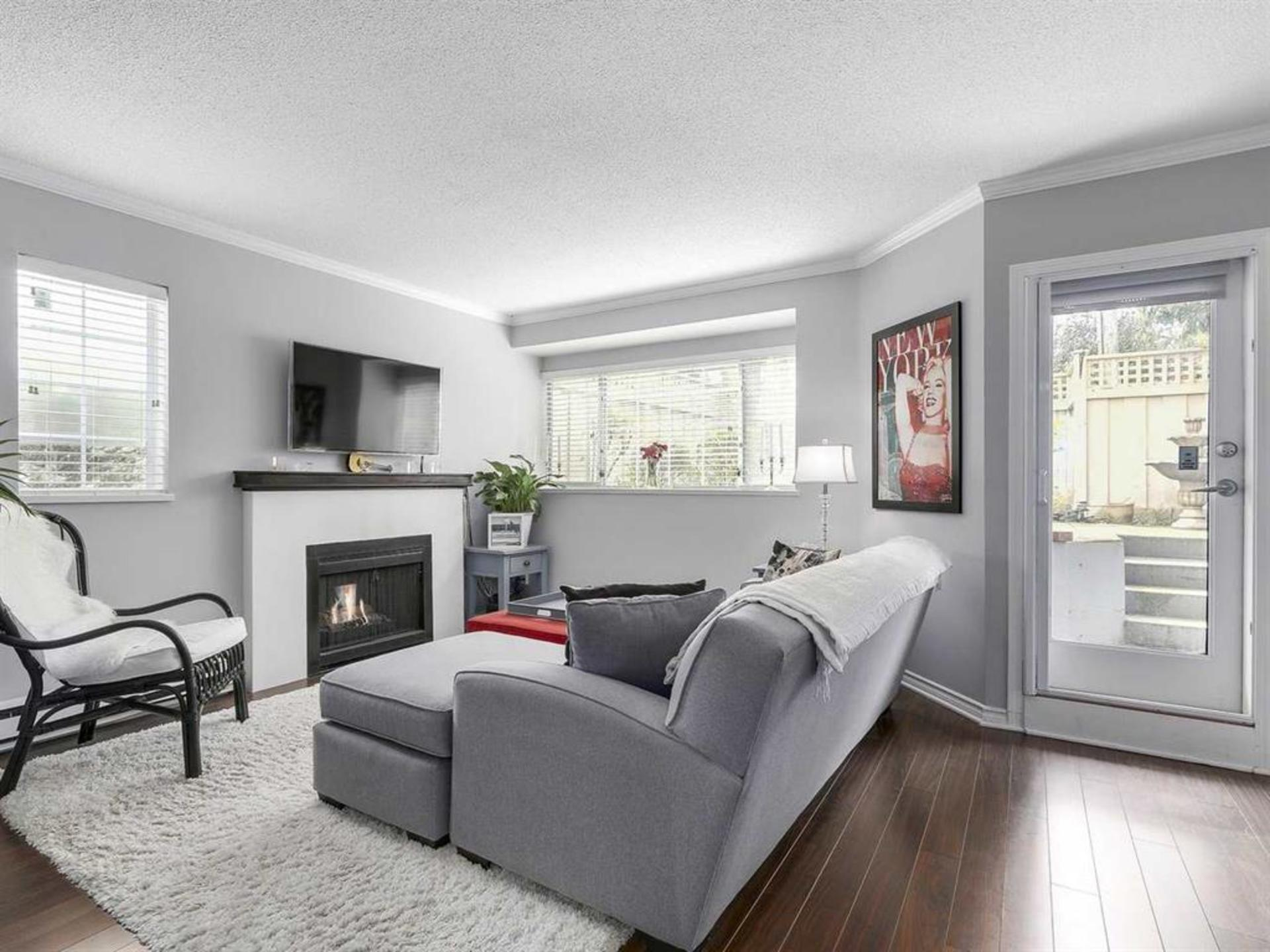 Cozy Fireplace at 108 - 1386 73, Marpole, Vancouver West