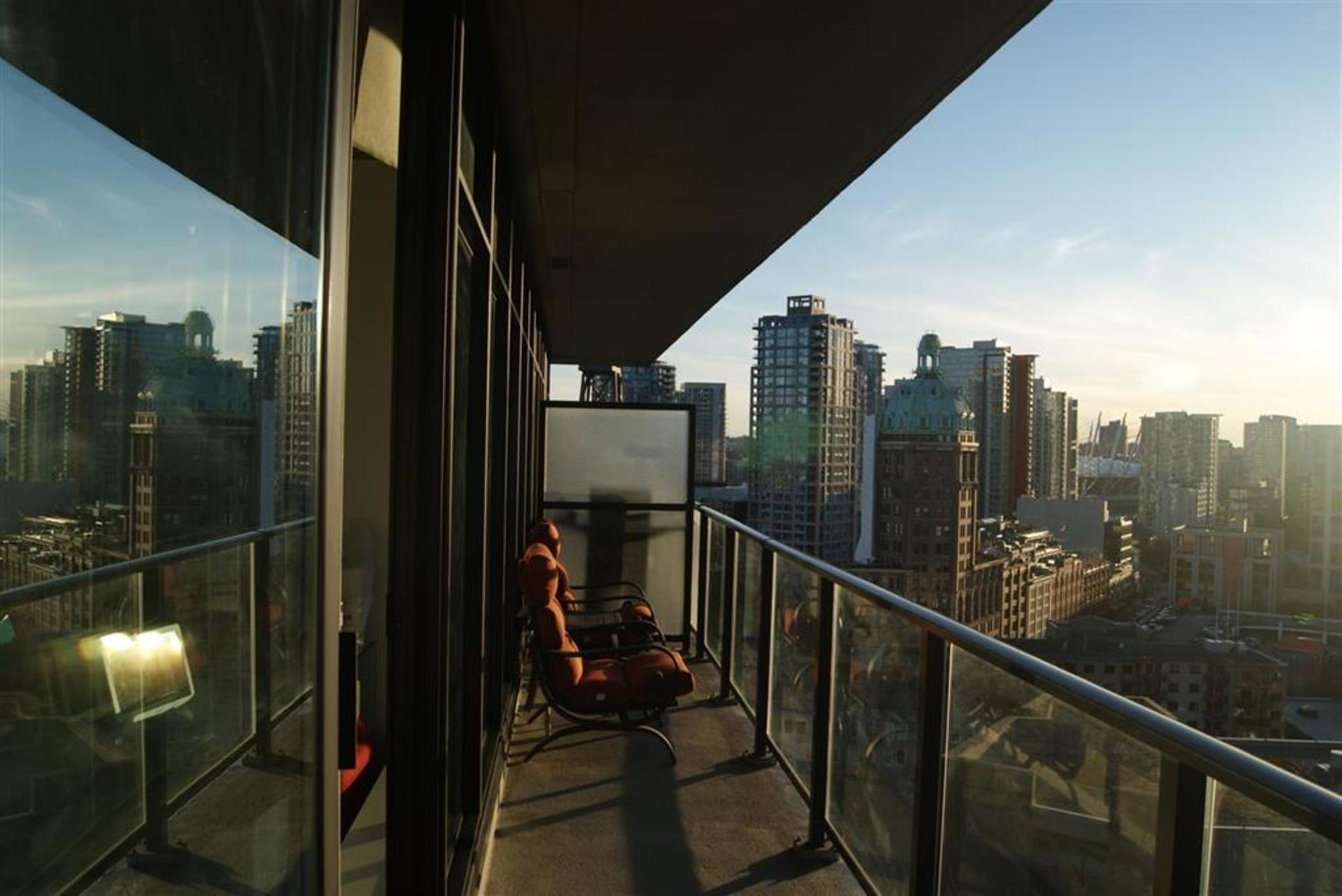 Patio View at 1906 - 108 West Cordova, Downtown VW, Vancouver West