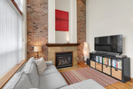 Natural Gas Fireplace at 422 - 10 Renaissance Square, Quay, New Westminster