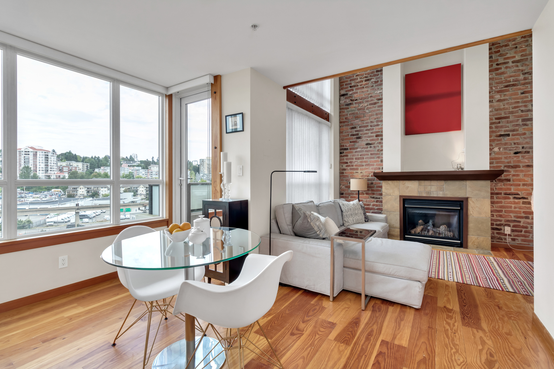 Dining area - Loft  at 422 - 10 Renaissance Square, Quay, New Westminster