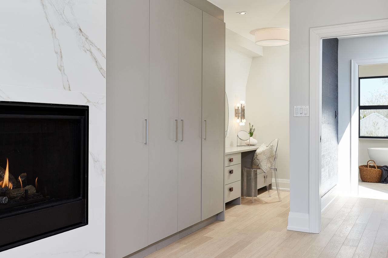 Kingsman Gas Fireplace, Custom Vanity & Built In Closets at 83 Morningside Avenue, High Park-Swansea, Toronto