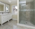 master ensuite with his and hers vanities at 185 Blantyre Avenue, Birchcliffe-Cliffside, Toronto