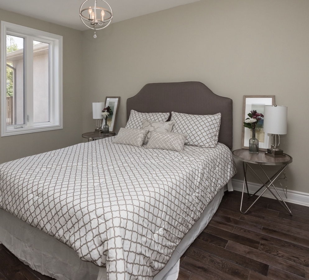 master bedroom with 2 closets at 185 Blantyre Avenue, Birchcliffe-Cliffside, Toronto