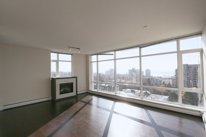 City and water views at 1101 - 1320 Chesterfield Avenue, Central Lonsdale, North Vancouver