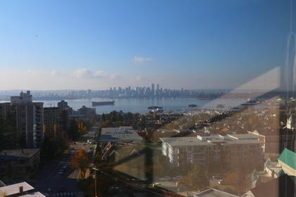 Water view at 1101 - 1320 Chesterfield Avenue, Central Lonsdale, North Vancouver