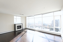 Fireplace at 1101 - 1320 Chesterfield Avenue, Central Lonsdale, North Vancouver