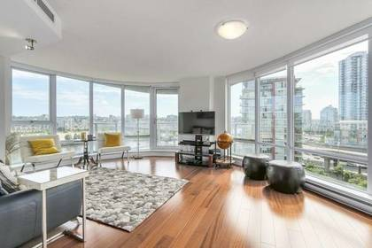 Living Room with city view at 1106 - 918 Cooperage Way, Yaletown, Vancouver West