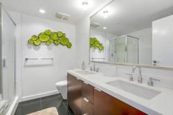 Bathroom at 1106 - 918 Cooperage Way, Yaletown, Vancouver West
