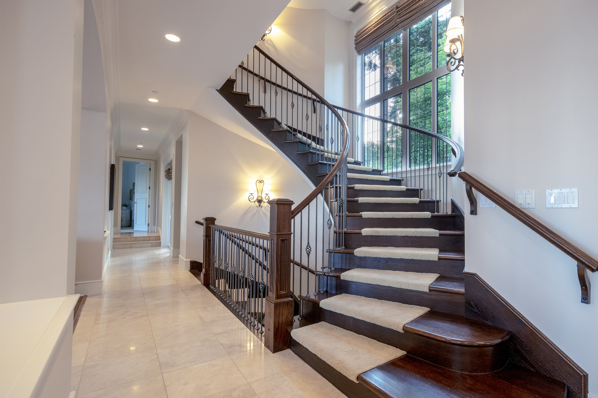 stairs at 835 Eyremount Drive, British Properties, West Vancouver