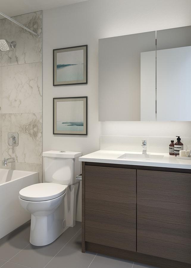 The Dawson - Bathroom at 306 - 4468 Dawson Street, Brentwood Park, Burnaby North