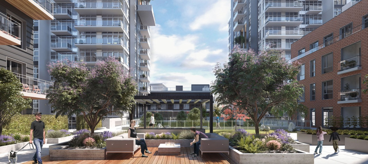 Avalon Park 1 - Courtyard at 203 - 8570 Rivergrass Drive, Fraserview VE, Vancouver East