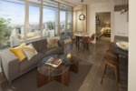 Gold House Living - Living Room at 907 - 6383 Mckay Avenue, Metrotown, Burnaby South