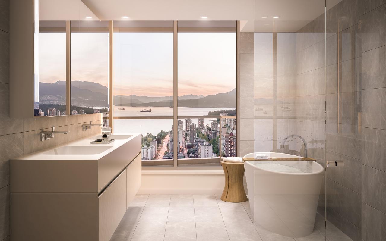 bathroom at 1008 - 1380 Hornby Street, Yaletown, Vancouver West