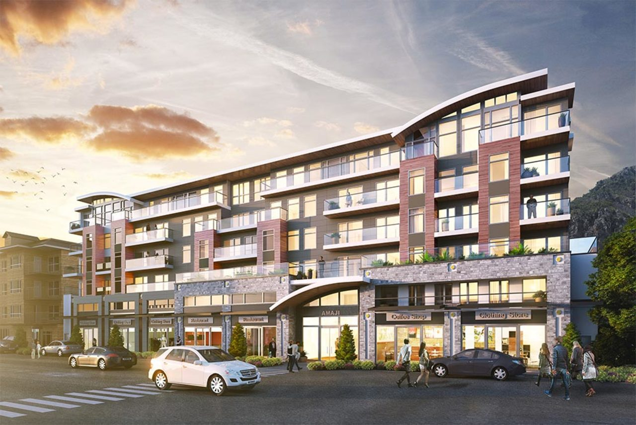Amaji in Squamish - Exterior at 607 - 38033 Second Avenue, Downtown SQ, Squamish