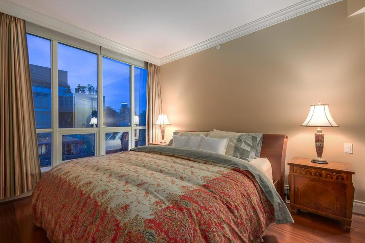Master bedroom at 2101 - 1328 Marinaside Crescent, Yaletown, Vancouver West