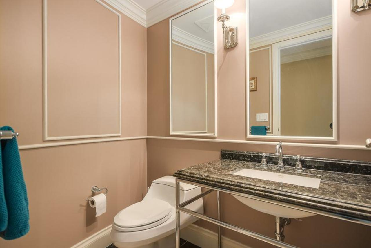 Guest bathroom at 2101 - 1328 Marinaside Crescent, Yaletown, Vancouver West