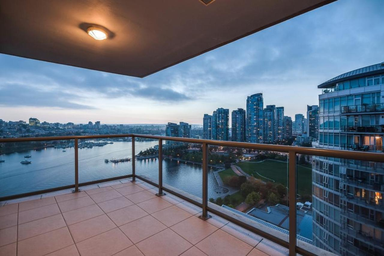 Balcony at 2101 - 1328 Marinaside Crescent, Yaletown, Vancouver West