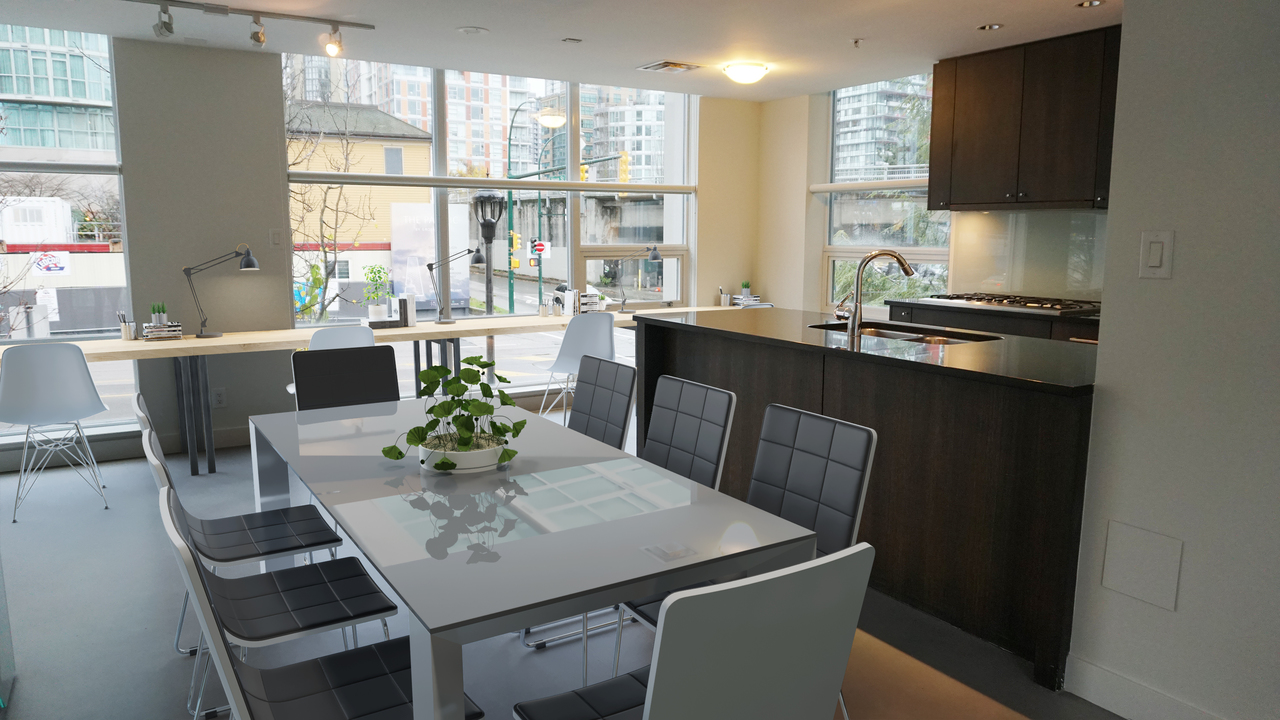 804 Pacific Street - Dining conversion to Work Stations at 804 Pacific Street, Yaletown, Vancouver West