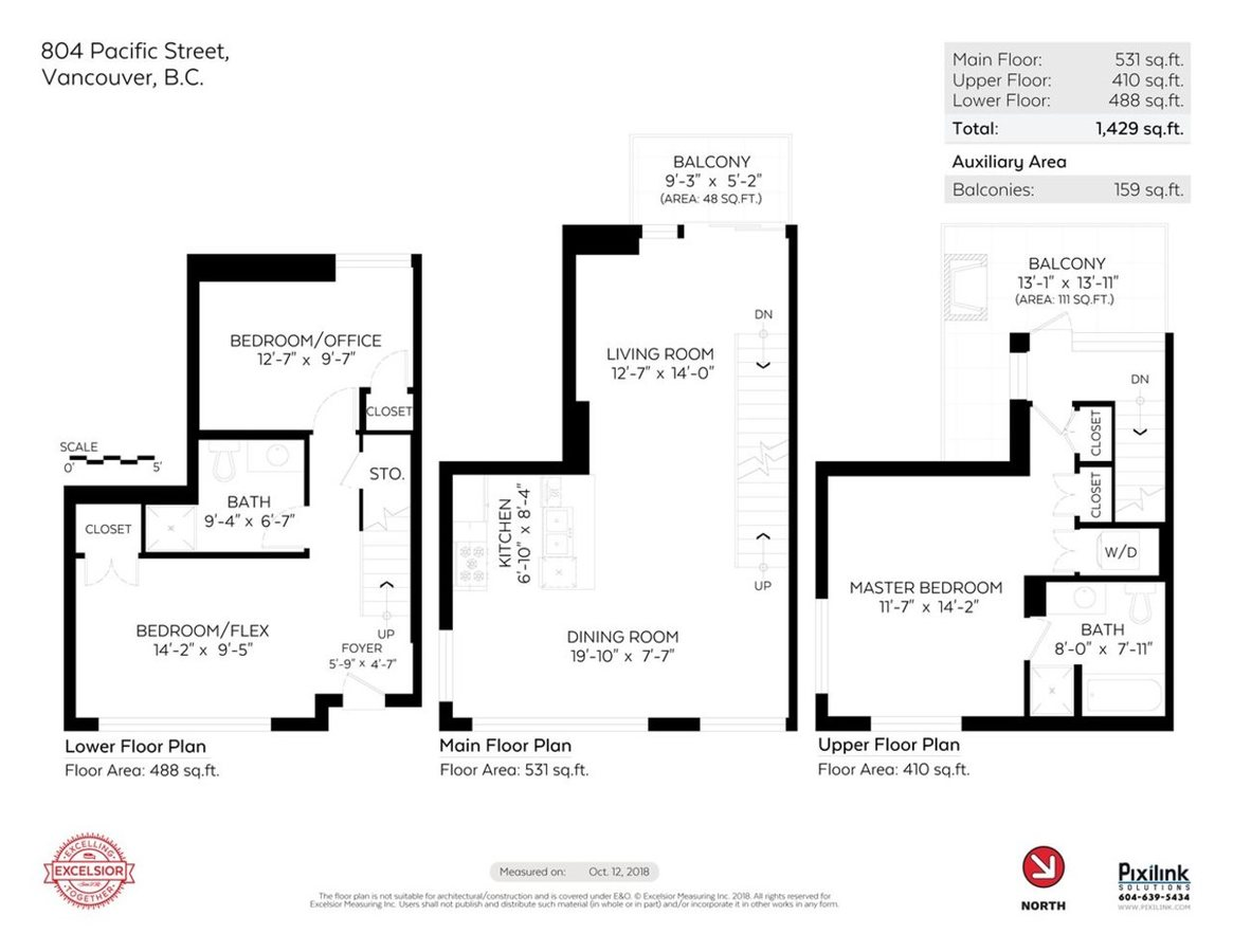 804 Pacific Street - Floorplan at 804 Pacific Street, Yaletown, Vancouver West