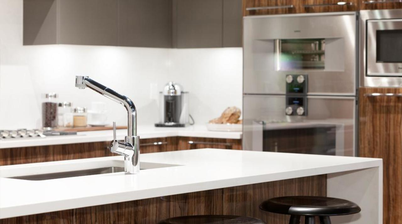 Parc Elise - Gaggenau kitchen at 201 - 4412 Cambie Street, Cambie, Vancouver West