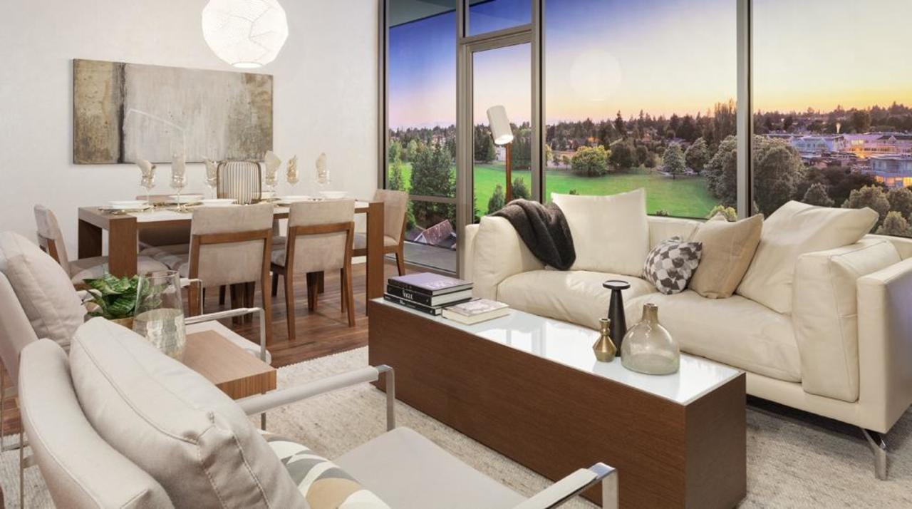 Parc Elise - Living dining at 201 - 4412 Cambie Street, Cambie, Vancouver West