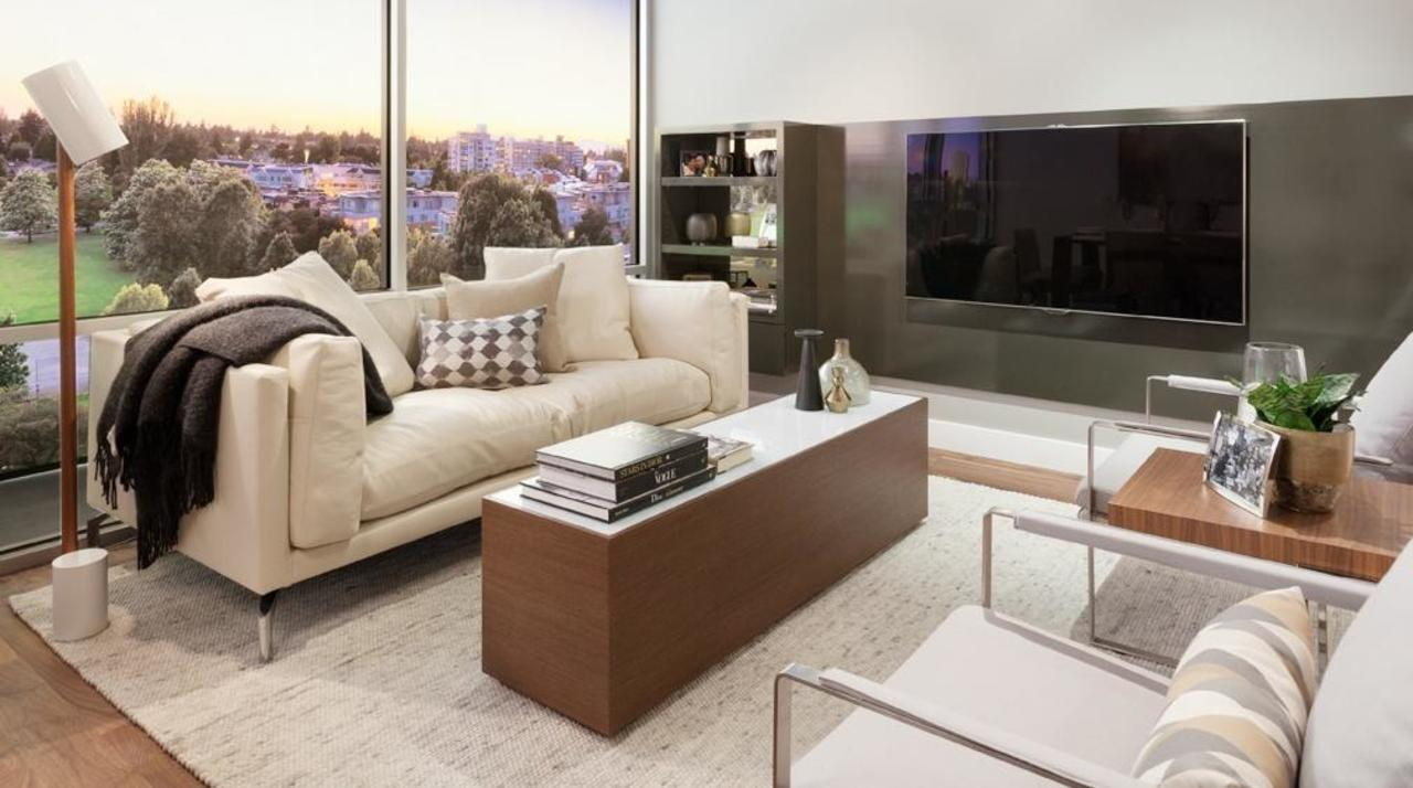 Parc Elise - Living room at 201 - 4412 Cambie Street, Cambie, Vancouver West