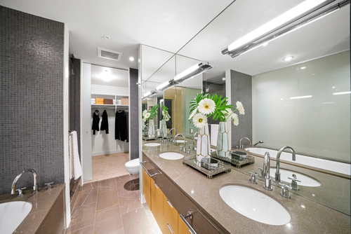 2404-1077 W. Cordova Street - Master Ensuite at 2404 - 1077 W Cordova Street, Coal Harbour, Vancouver West