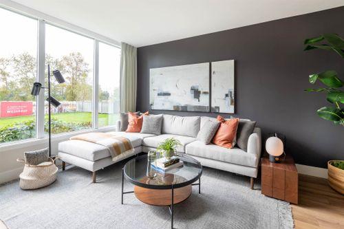 1003-3430 E Kent Ave South - Living Room at 1003 - 3430 E Kent Avenue South, South Marine, Vancouver East