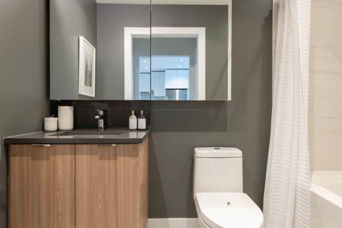 502-3430 E Kent Avenue South - Bathroom at 502 - 3430 E Kent Avenue South, South Marine, Vancouver East
