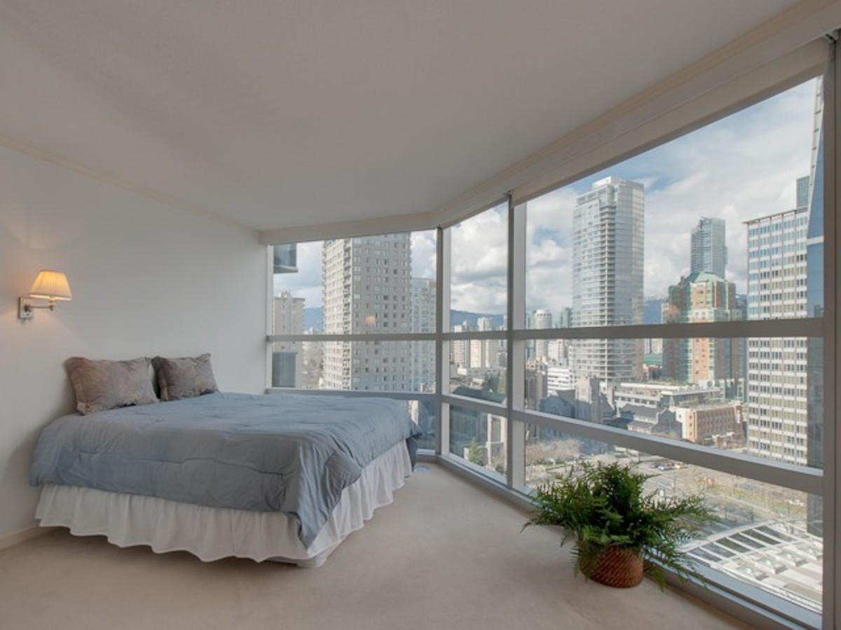 Wall Centre Master Bedroom at 1508 - 1050 Burrard Street, Downtown VW, Vancouver West