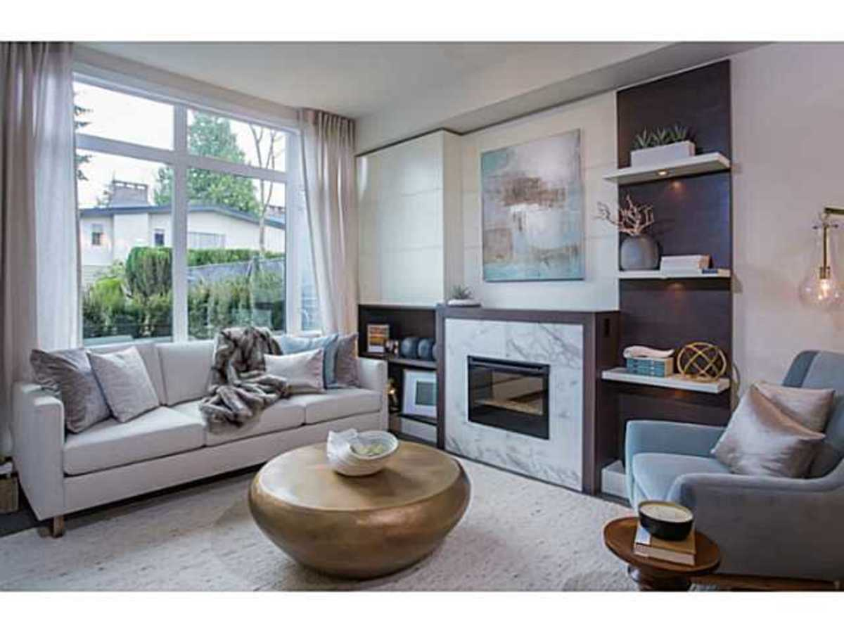 Hamilton by Listraor Living Room at 8 - 6072 Oak Street, Oakridge VW, Vancouver West