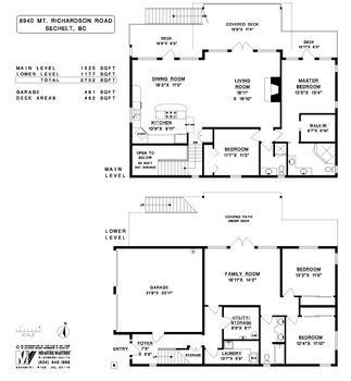 floor-plan at 6940 Mount Richardson Road, Sechelt District, Sunshine Coast