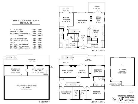 floor-plan at 6194 S Gale Avenue, Sechelt District, Sunshine Coast