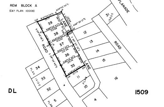 legal-plan at 6186 Lookout Avenue, Sechelt District, Sunshine Coast