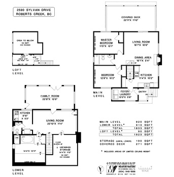 floor-plan at 2590 Sylvan Drive, Roberts Creek, Sunshine Coast