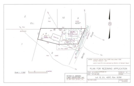 plan-for-rezoning-application-to-subdivide at 5577 Winter Road, Sechelt District, Sunshine Coast