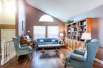 Living Room at 2882 Nash Drive, Scott Creek, Coquitlam