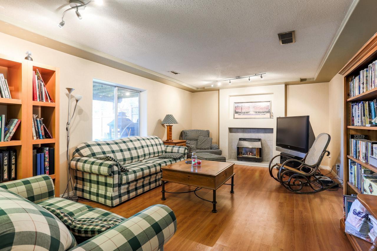 Living Room Downstairs at 2882 Nash Drive, Scott Creek, Coquitlam