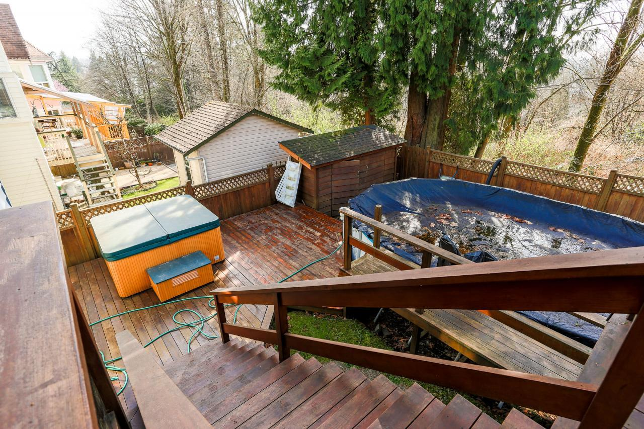 Backyard at 2882 Nash Drive, Scott Creek, Coquitlam