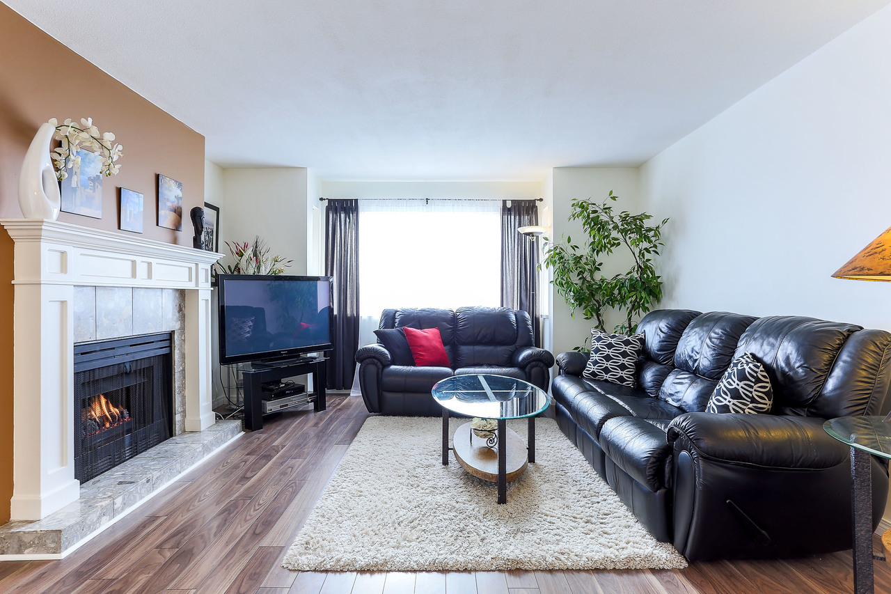 Living room at 8 - 1872 Harbour Street, Citadel PQ, Port Coquitlam