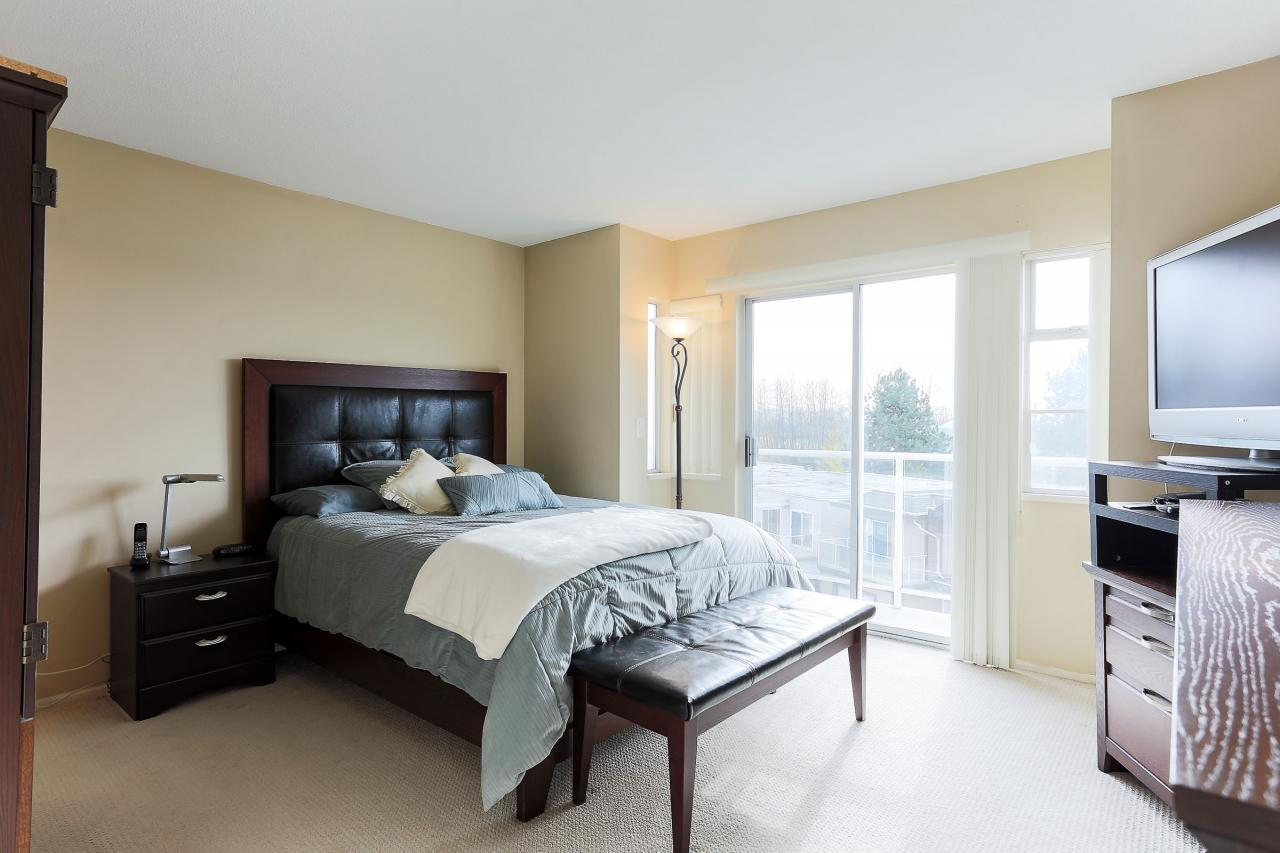 Master bedroom at 8 - 1872 Harbour Street, Citadel PQ, Port Coquitlam