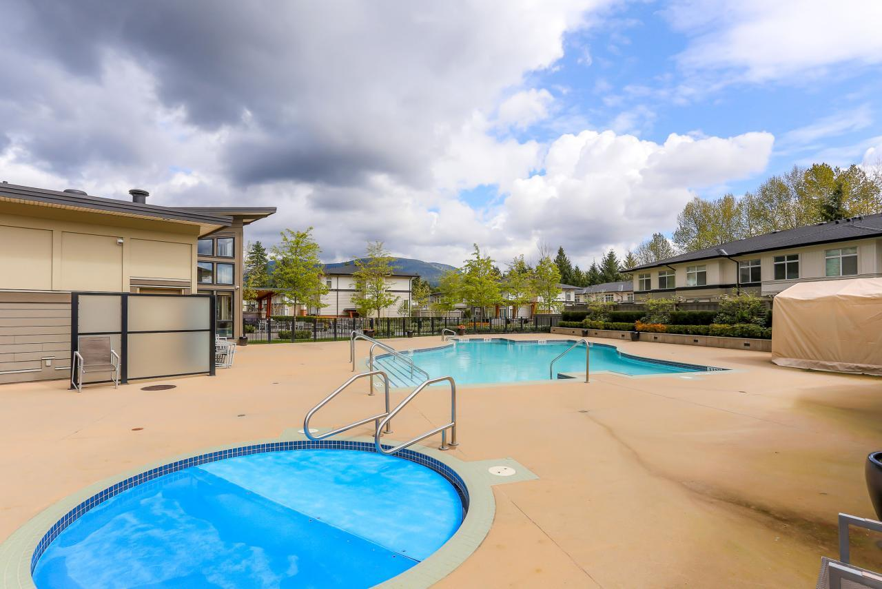 Outdoor Pool & Hot tub at 308 - 3097 Lincoln Ave, New Horizons, Coquitlam