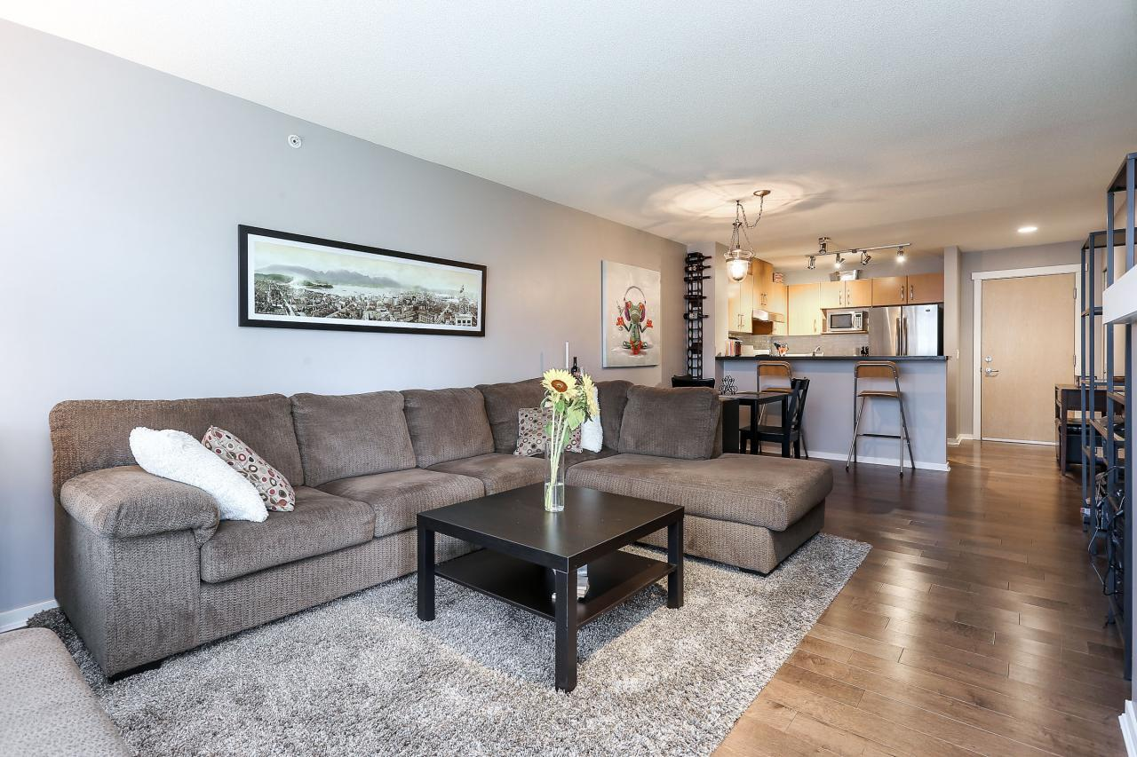 Living Room at 404 - 400 Klahanie Drive, Port Moody Centre, Port Moody