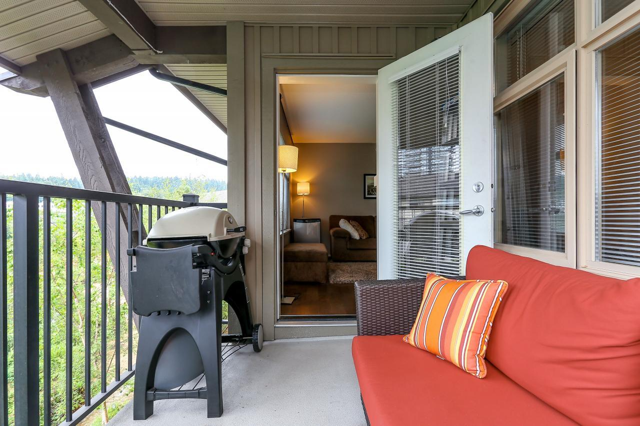 Deck at 404 - 400 Klahanie Drive, Port Moody Centre, Port Moody