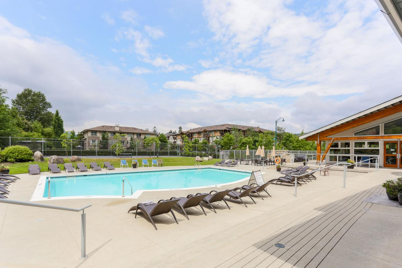 Outdoor Pool at 404 - 400 Klahanie Drive, Port Moody Centre, Port Moody