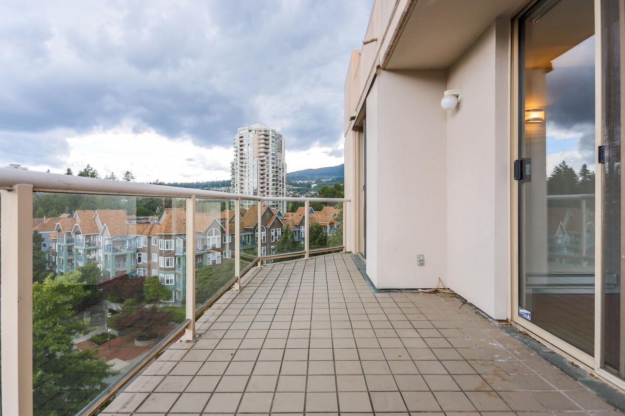 Balcony at 704 - 1189 Eastwood Street, North Coquitlam, Coquitlam