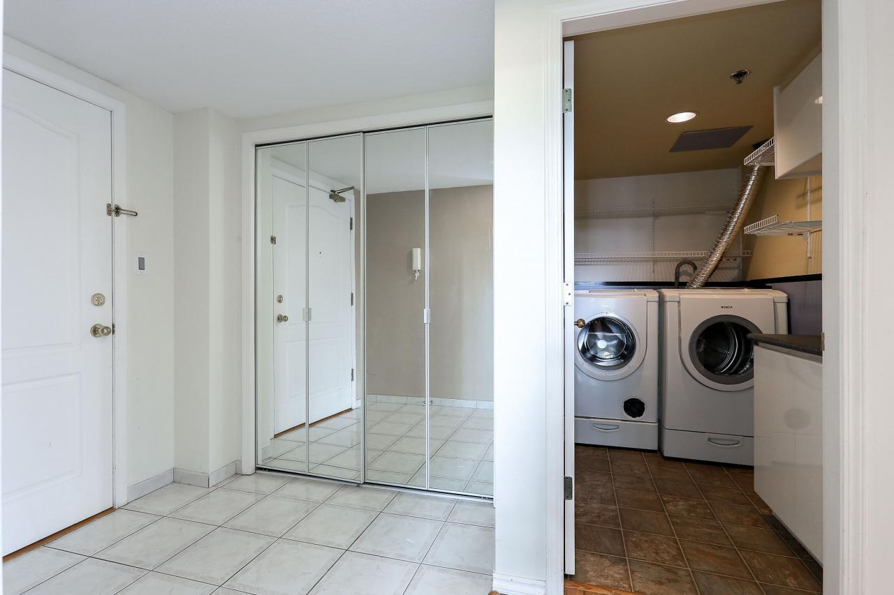 Entrance foyer and laundry room at 704 - 1189 Eastwood Street, North Coquitlam, Coquitlam